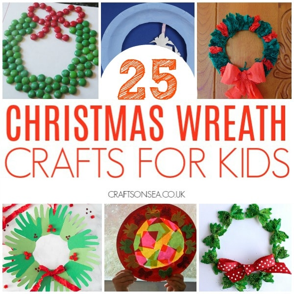 christmas wreath ideas for kids square image