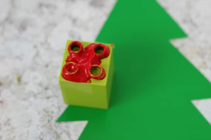 duplo christmas lights craft for kids
