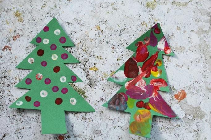 fine motor skills christmas tree craft
