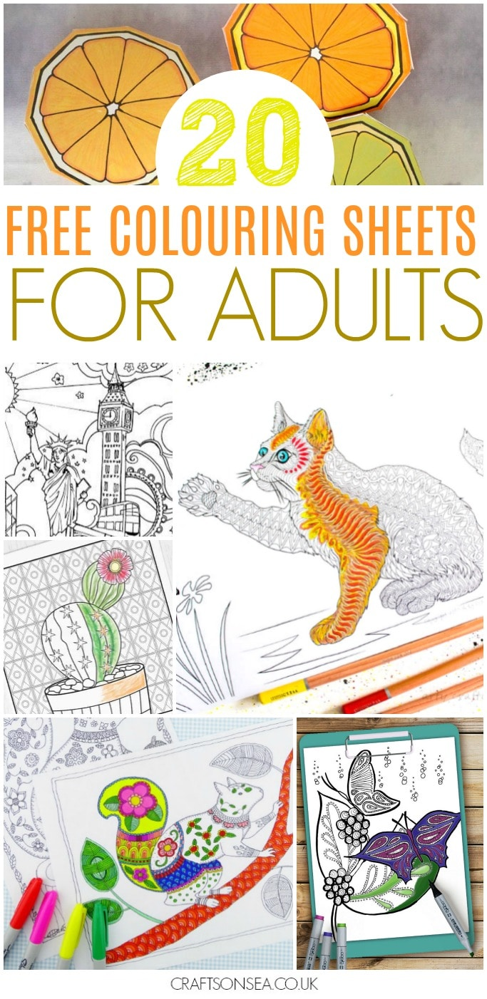 free colouring sheets for adults detailed