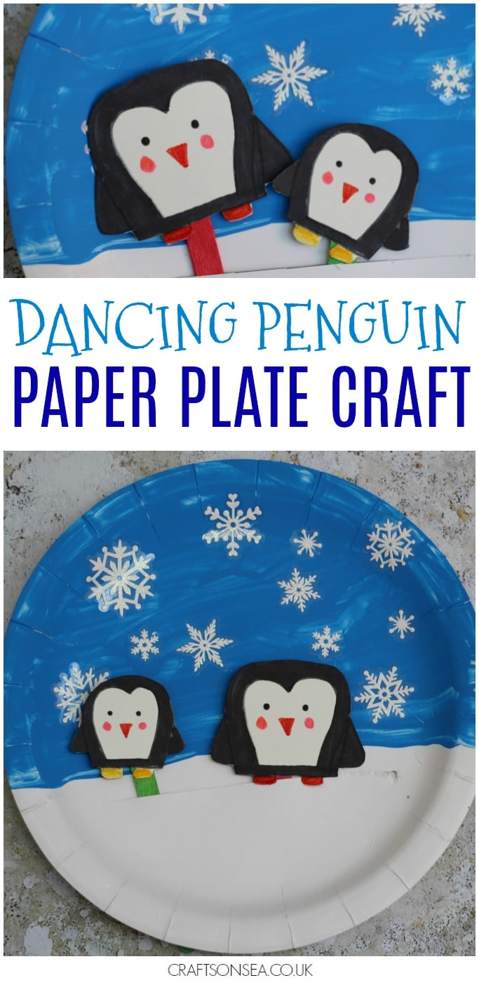 movable penguin paper plate craft for kids  sc 1 st  Crafts on Sea & Movable Penguin Paper Plate Craft - Crafts on Sea