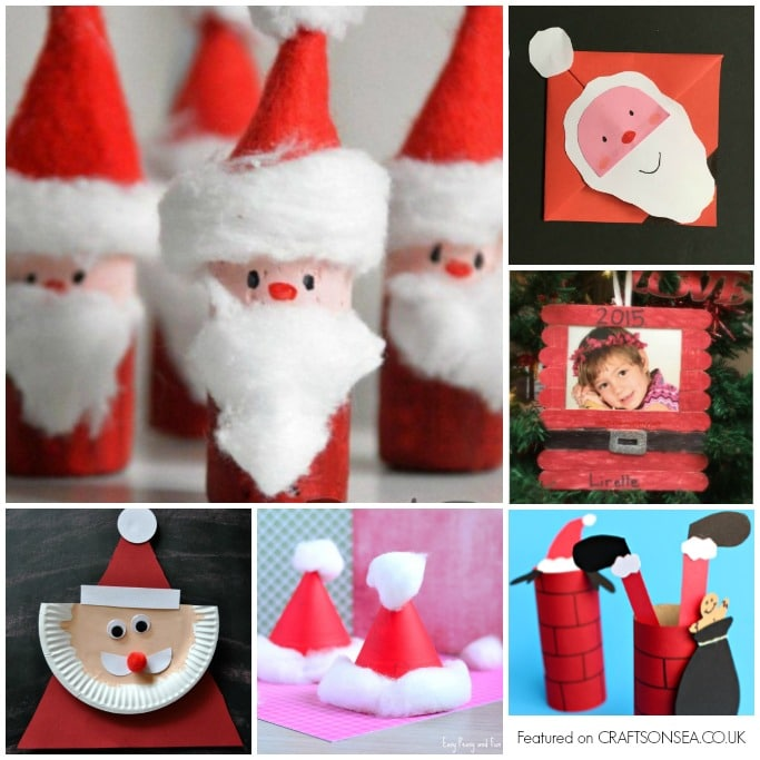 santa crafts for kids square
