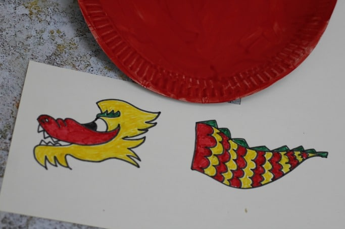 Chinese Dragon Paper Plate Craft for kids