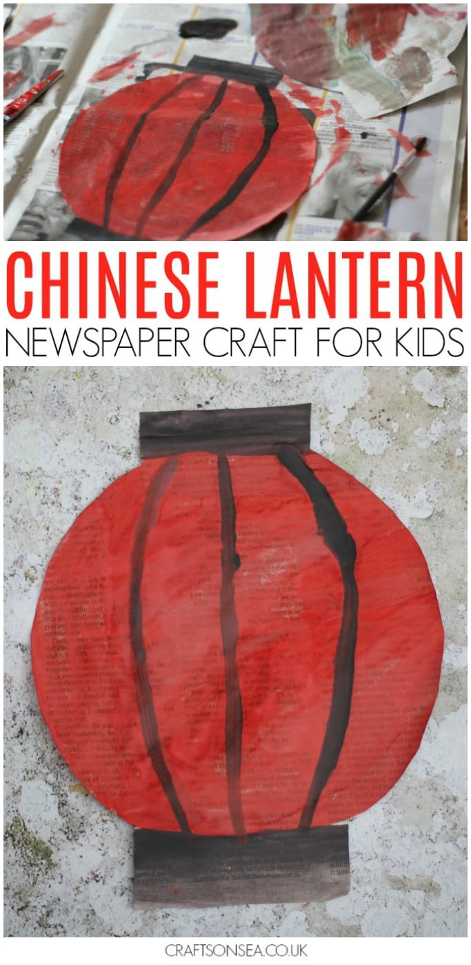 Chinese New Year Craft for Kids Newspaper Chinese Lantern
