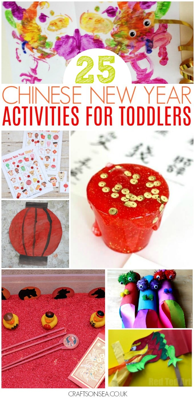 Chinese New Year activities for toddlers preschool crafts sensory play games circle time