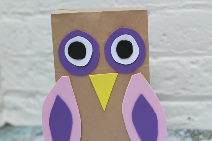 Easy owl puppet for kids