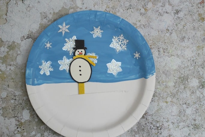 Snowman Paper Plate Craft & Movable Snowman Paper Plate Craft - Crafts on Sea