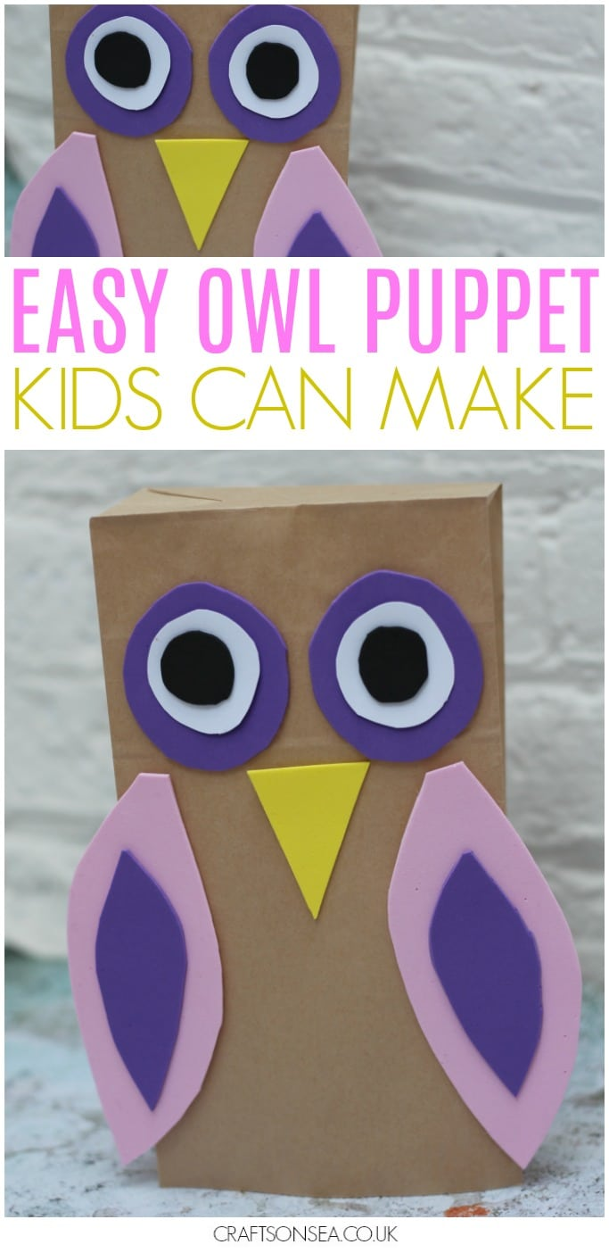easy owl puppet kids can make preschool activity