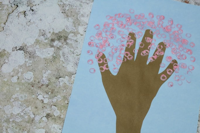 handprint cherry tree craft