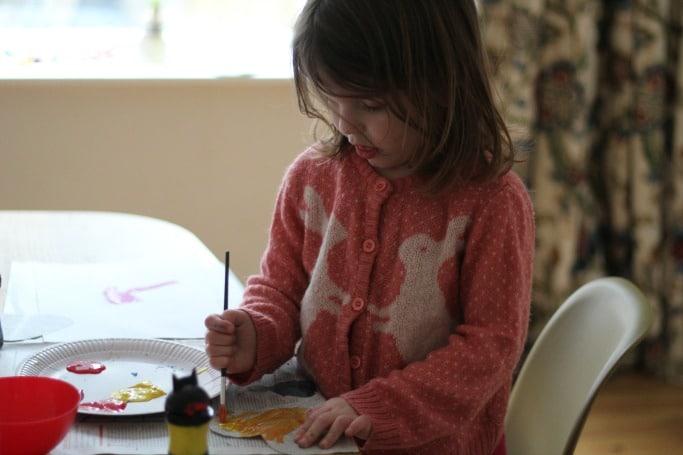 newspaper heart craft preschool