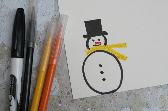 snowman paper plate craft kids