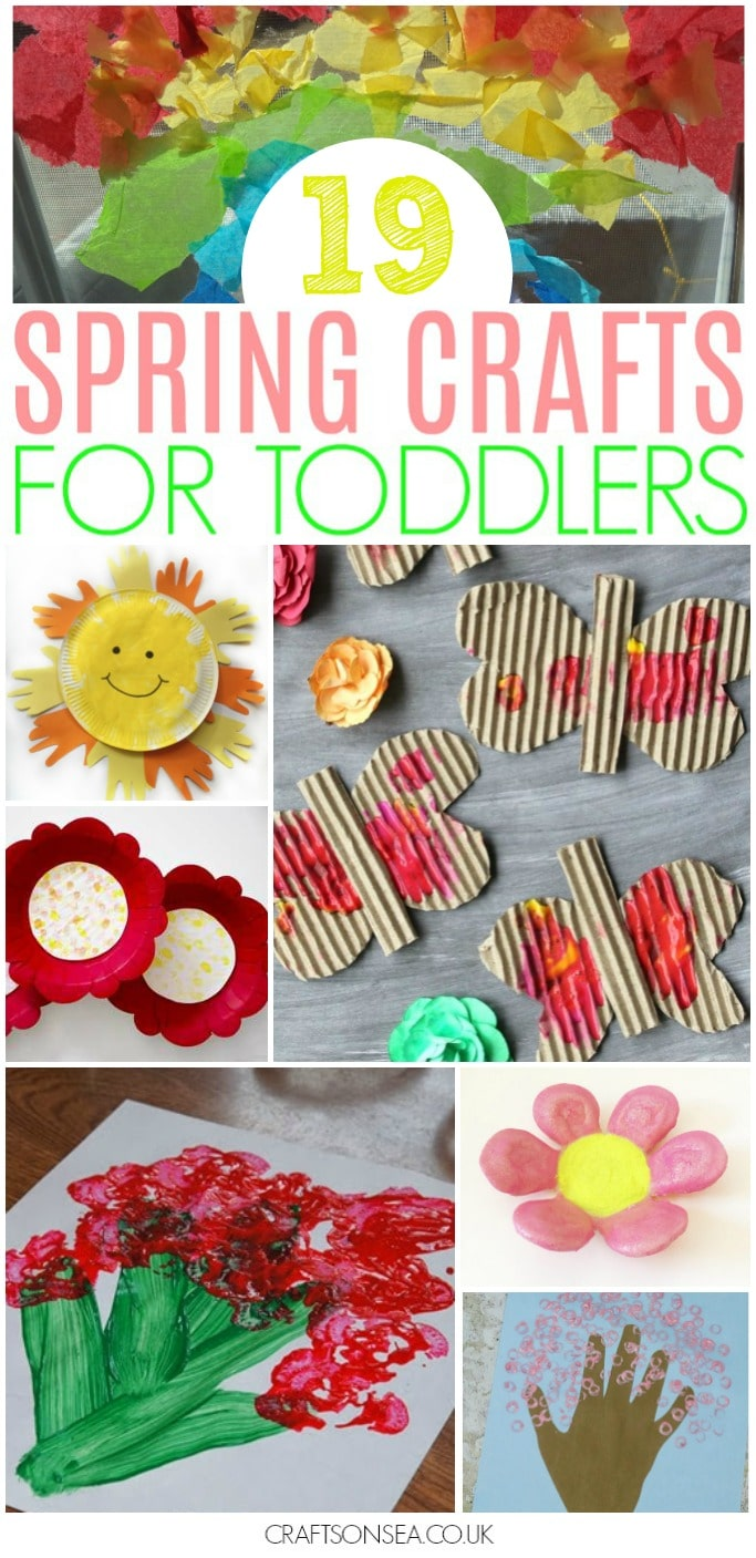 spring crafts for toddlers easy