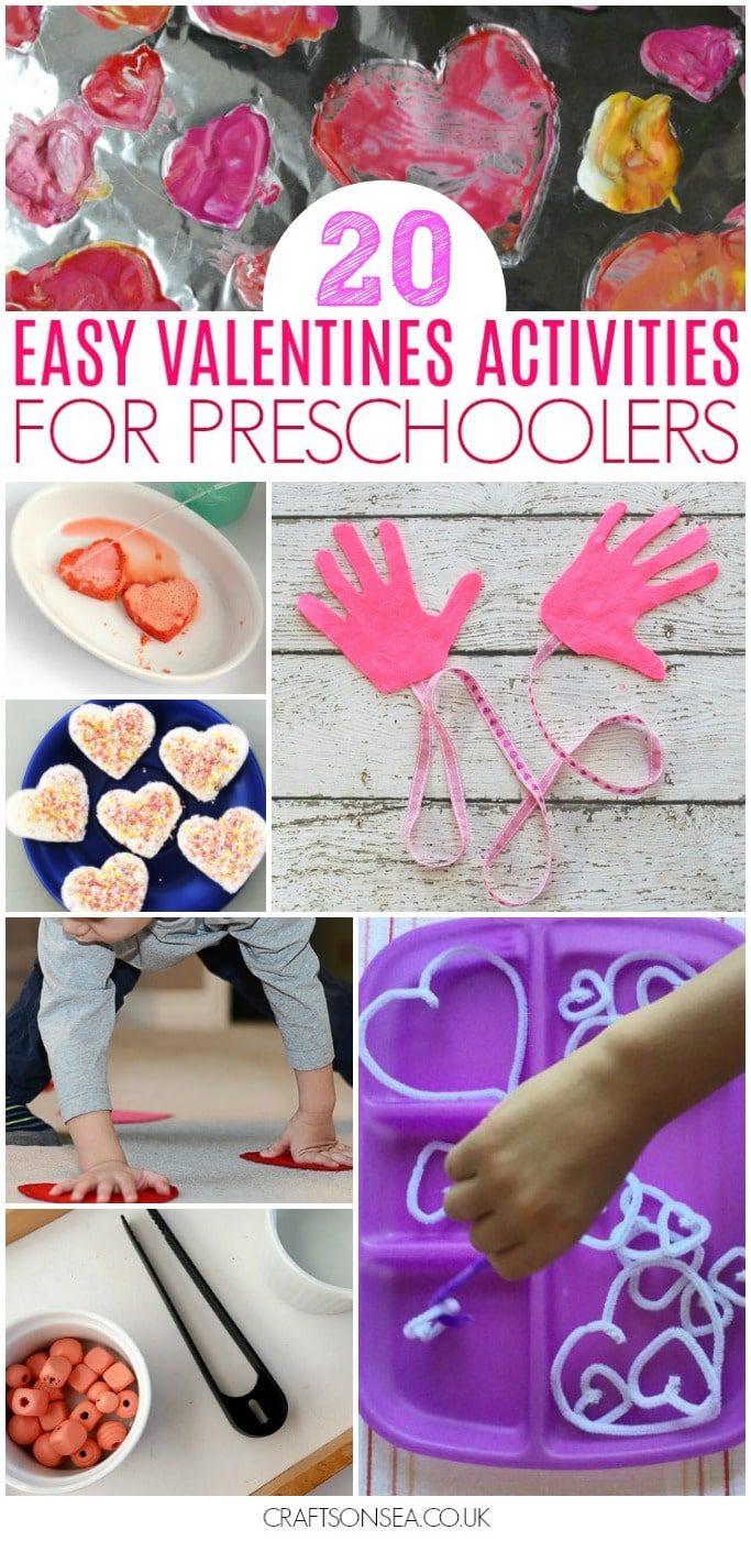 valentines activities for preschool easy fine motor science gross motor
