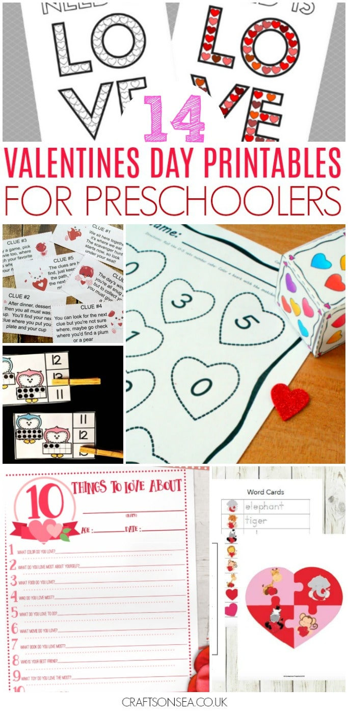 valentines day printables for preschool