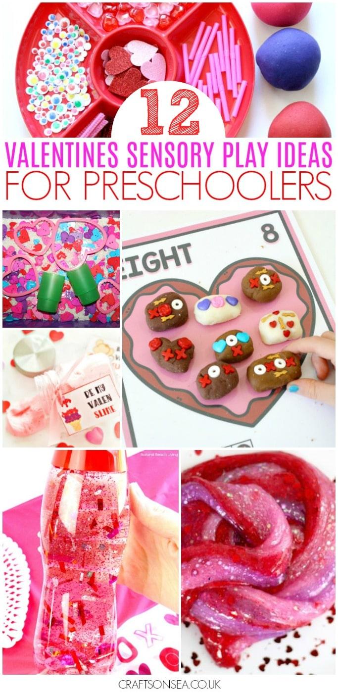 valentines sensory activities preschool slime play dough sensory bin