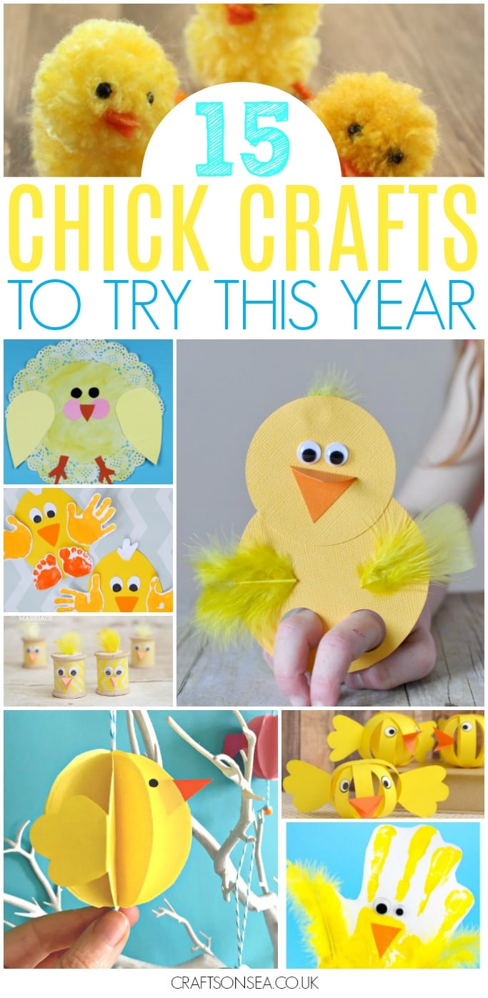 chick crafts for kids easter