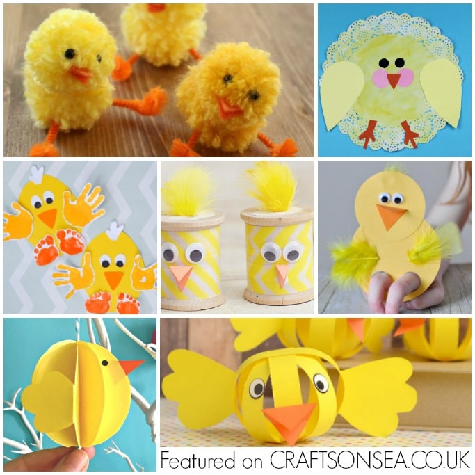 chick crafts for kids square