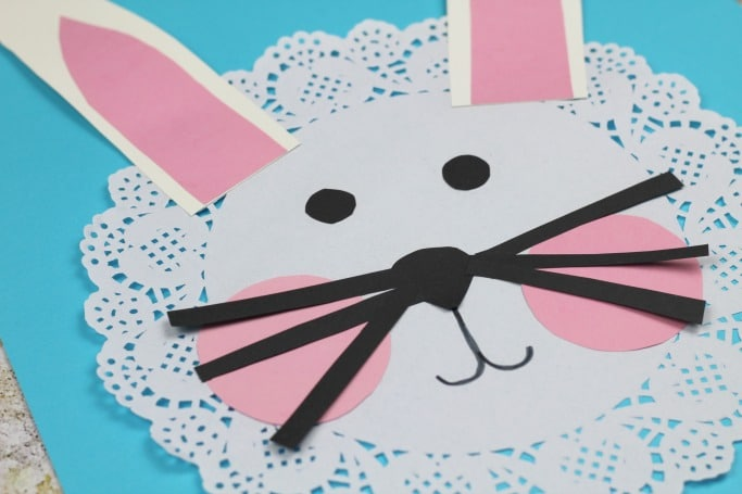 doily rabbit craft for kids