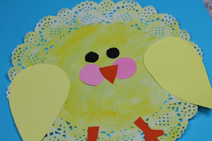 easter chick craft for kids