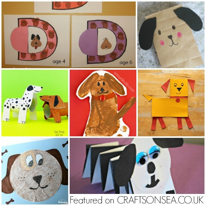 easy dog crafts for kids preschool toddler