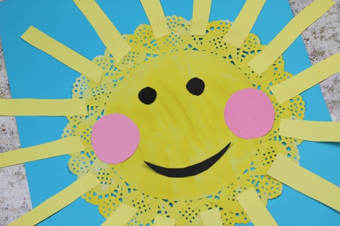 easy doily sun craft for kids
