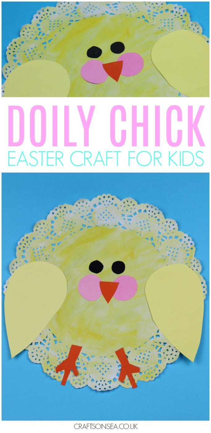 easy easter craft for kids doily chick