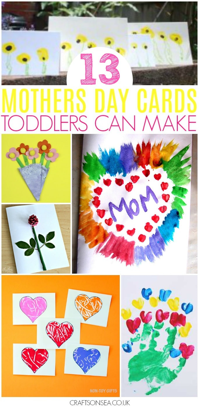 mothers day cards for kids to make toddlers preschool