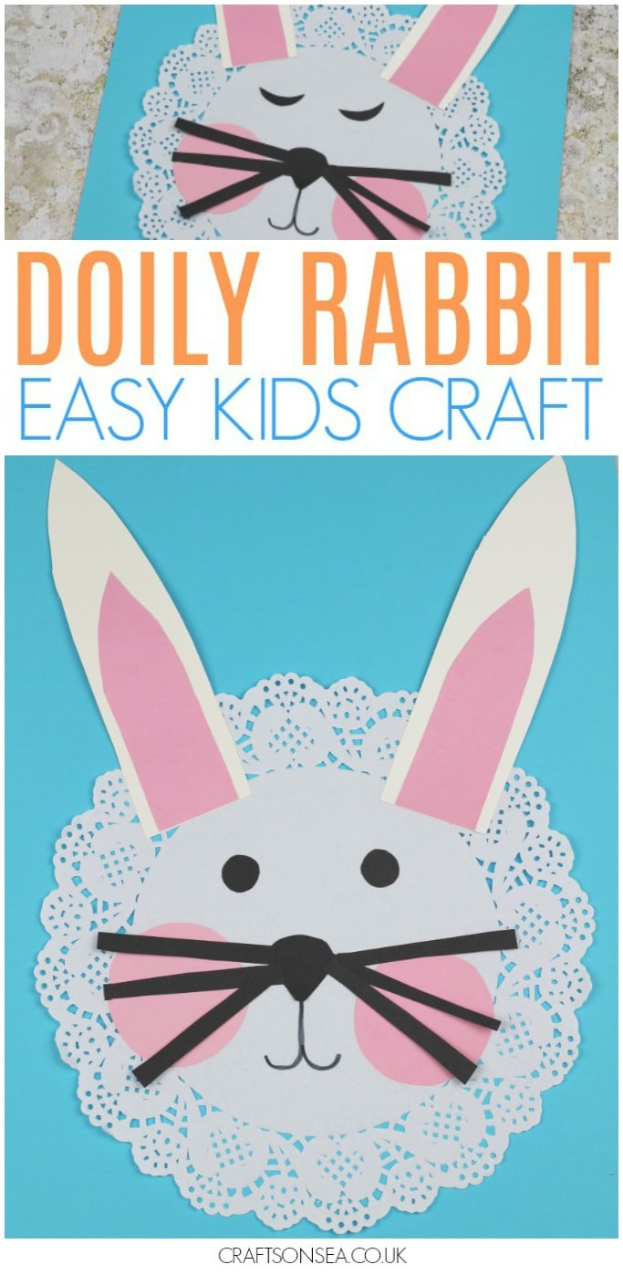 Easy Doily Rabbit Craft for Kids - Crafts on Sea