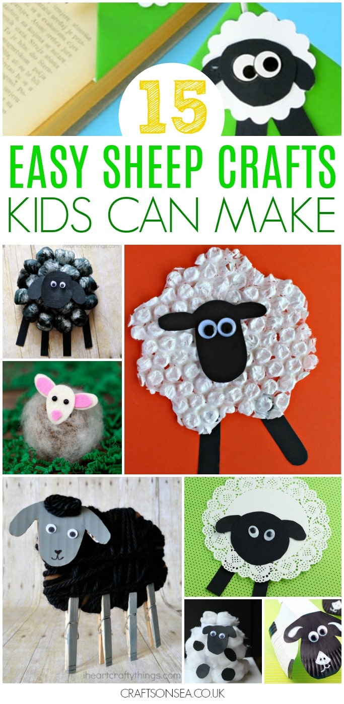 sheep crafts for kids preschool