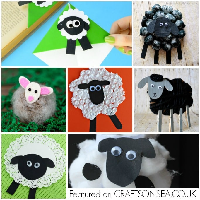 sheep crafts for kids square collage