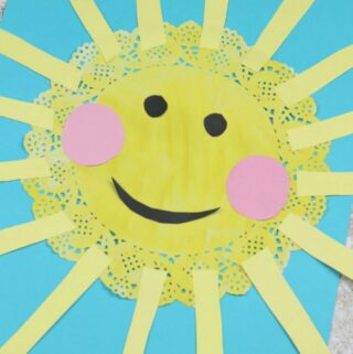 sun craft for kids doily
