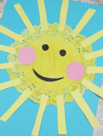 sun craft for kids doily