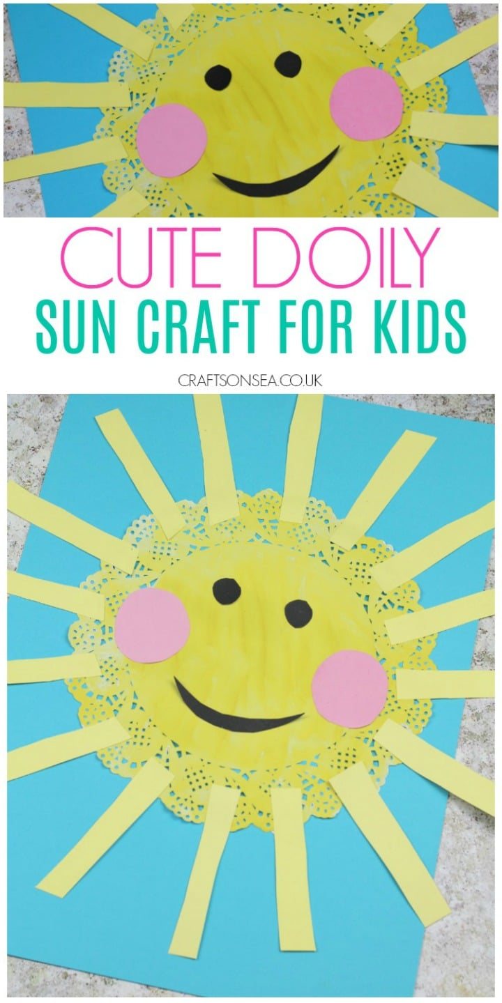 sun craft for kids doily summer cute