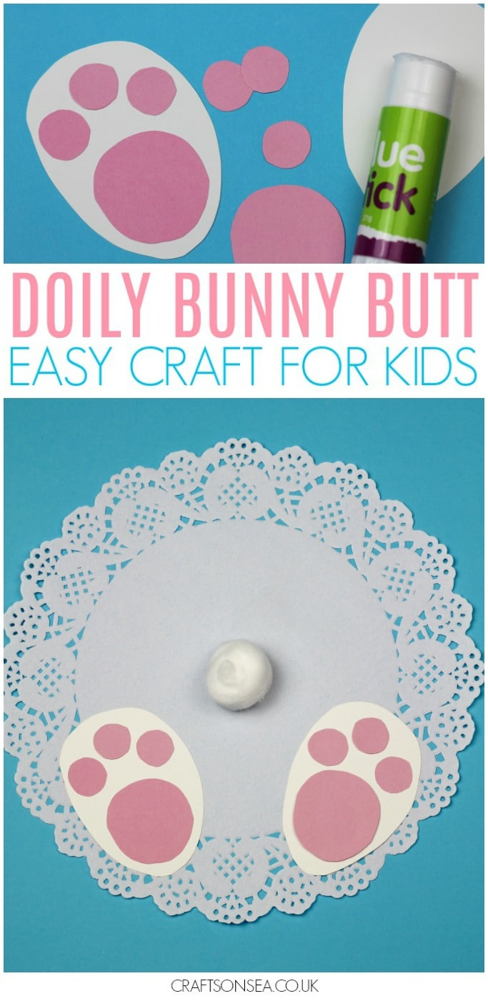 bunny butt craft for kids doily