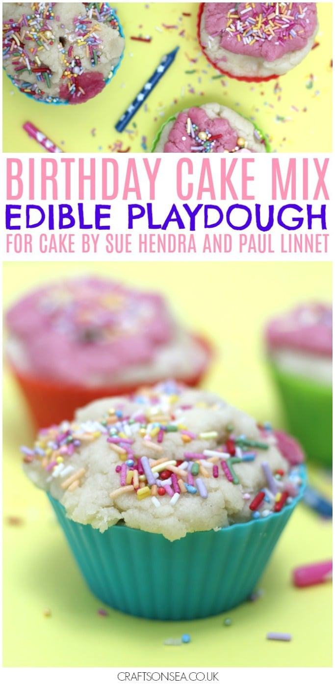 cake mix edible playdough for sue hendra preschool activity