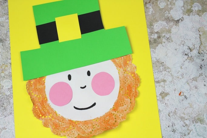 doily leprechaun craft for St Patricks Day