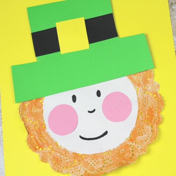 doily leprechaun craft square