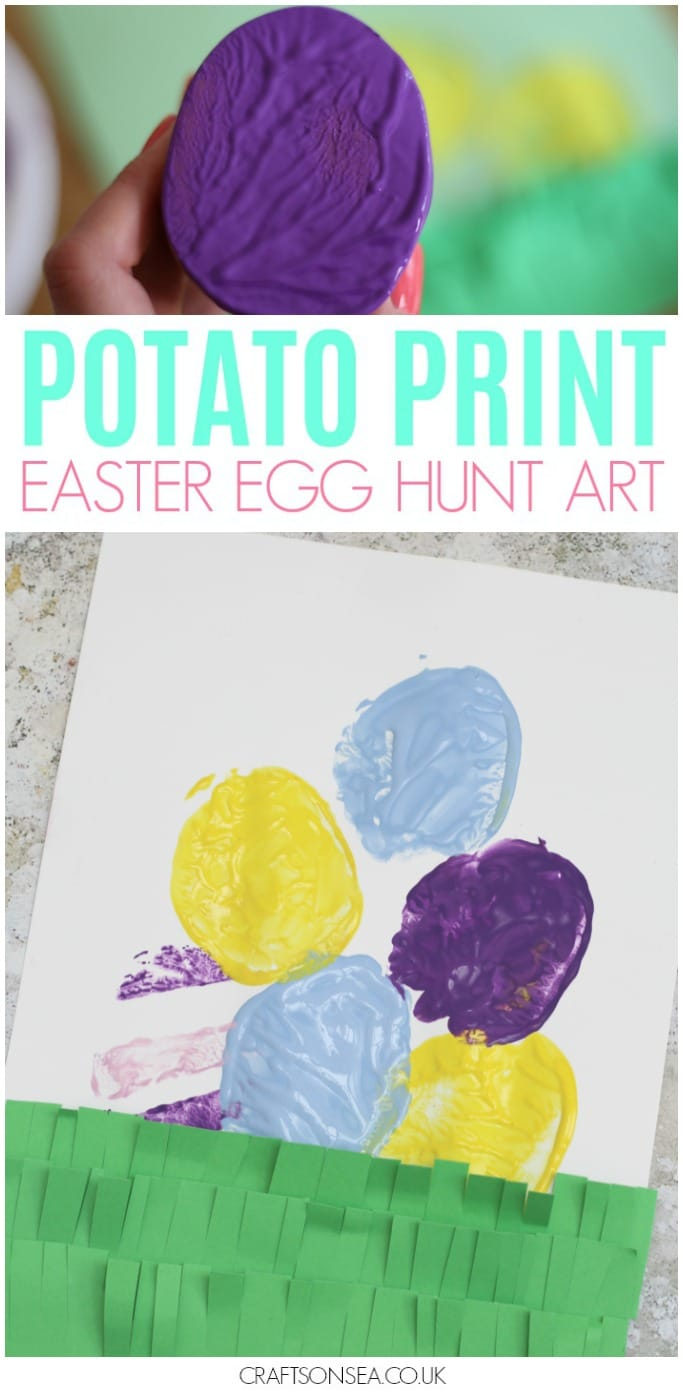 easter egg hunt painting activity easy art for kids