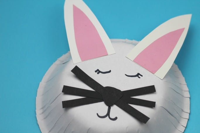 easy paper bowl rabbit craft for kids