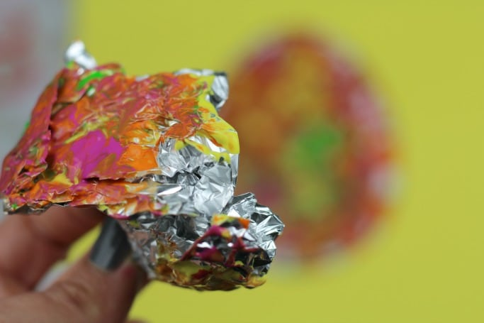 foil painted easter egg craft