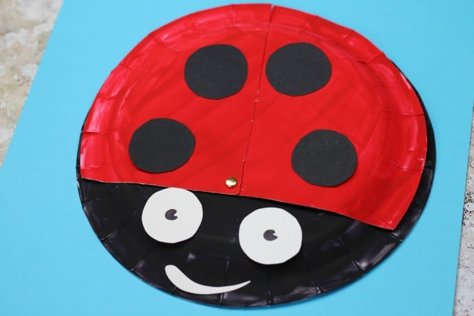 what the ladybird heard movable paper plate craft