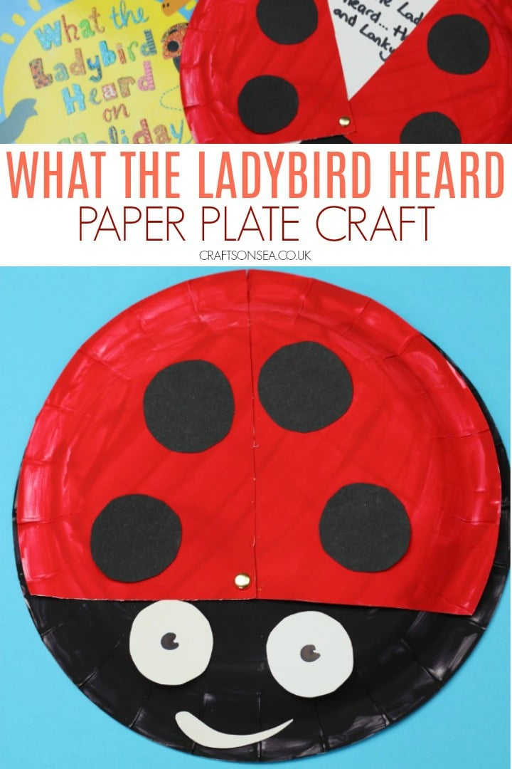 what the ladybird heard paper plate craft and literacy activity