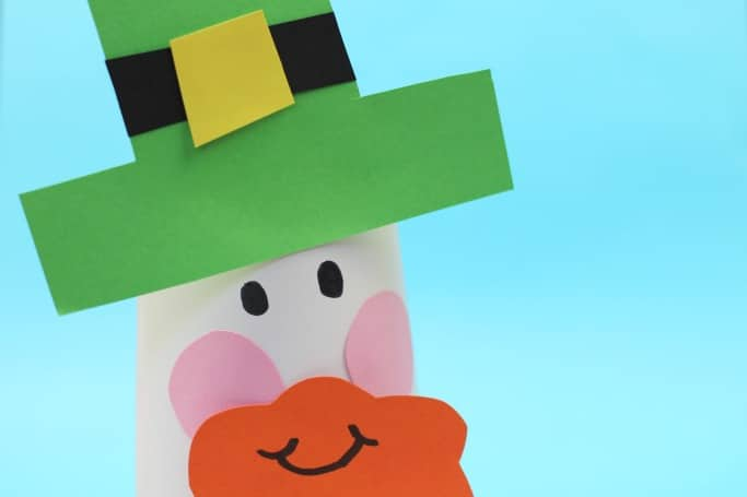 yogurt pot leprechaun craft for kids