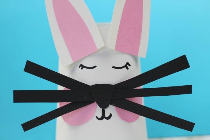 yogurt pot rabbit craft for kids to make