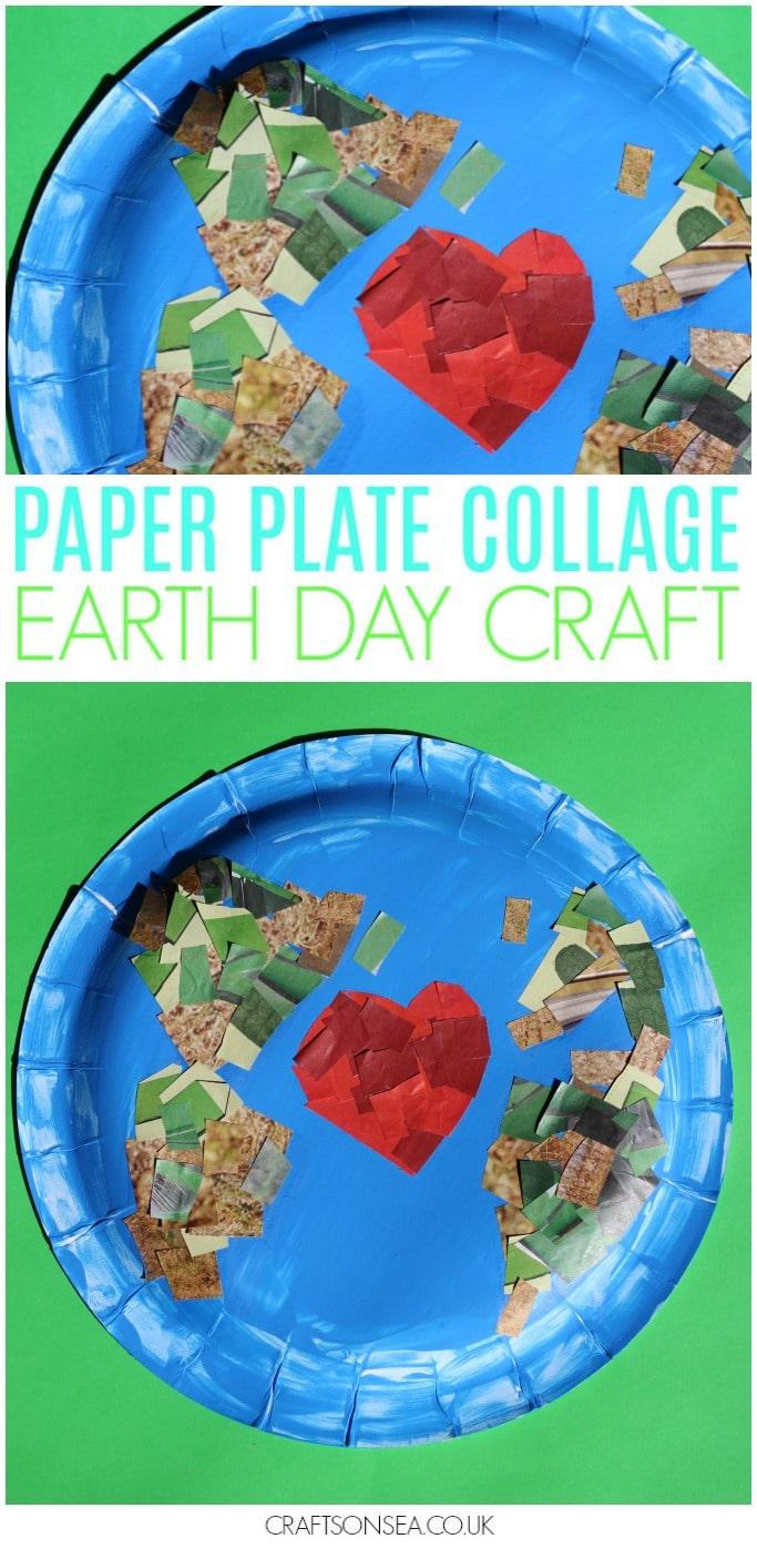 earth day craft for kids easy paper plate collage