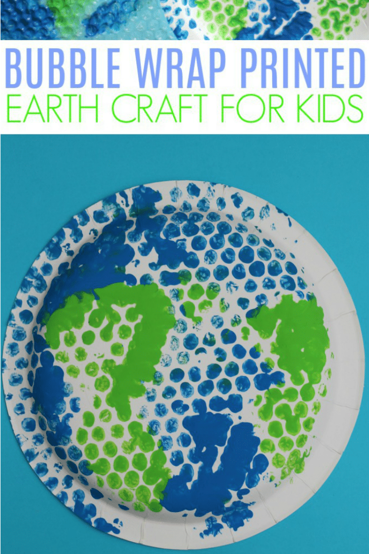 easy bubble wrap earth craft for kids