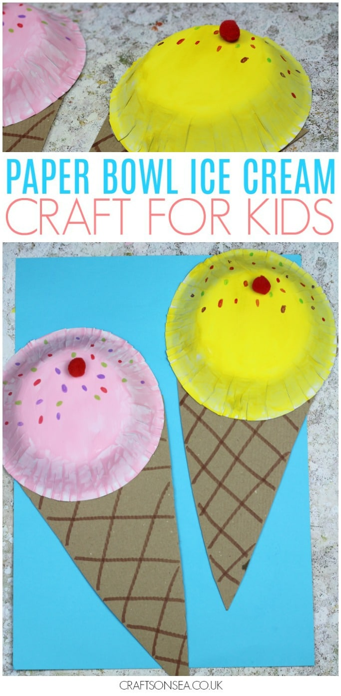 easy ice cream craft for kids summer activities