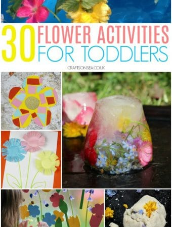 flower crafts and activities for toddlers