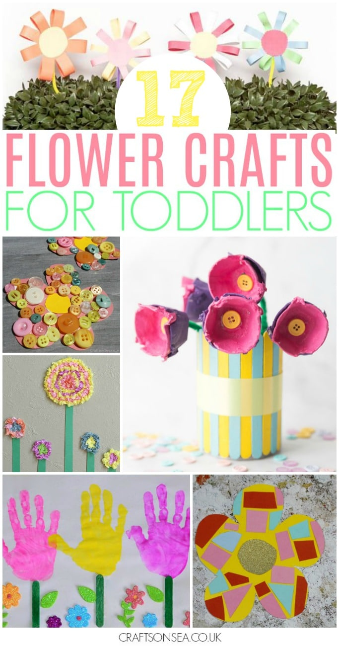 flower crafts for toddlers easy activities