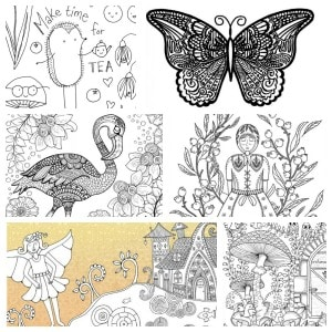 free colouring pages square 300